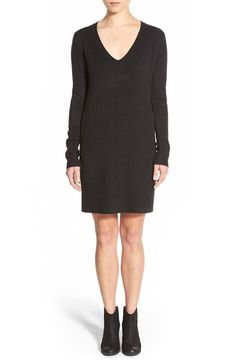 BP. Long Sleeve V-Neck Sweater Dress available at #Nordstrom
