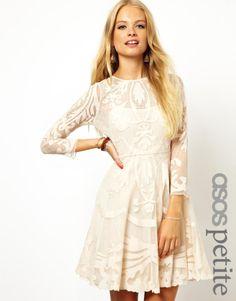 Exclusive Premium Applique Mesh Skater Dress - Lyst Asos Dress 619603ba9