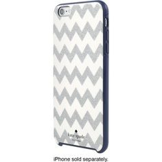 kate spade new york - Hard Shell Case for Apple® iPhone® 6 Plus - Chevron Glitter Silver/Navy