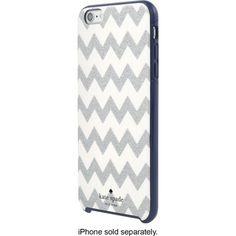 kate spade new york - Hard Shell Case for Apple® iPhone® 6 Plus - Chevron Glitter Silver/Navy