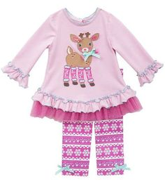 Rare Editions Emily Rose Holiday Owl Chevron Christmas Outfit 3T 4T 5 6 7 8