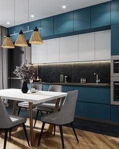 11 Amazing Kitchen Design Trends In 2019 Luxury Kitchen Design, Contemporary Kitchen Design, Best Kitchen Designs, Interior Design Kitchen, Diy Interior, Küchen Design, Deco Design, Design Trends, Design Ideas