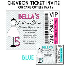 FASHION SHOW Custom Printable Birthday Invitation - Digital File ...