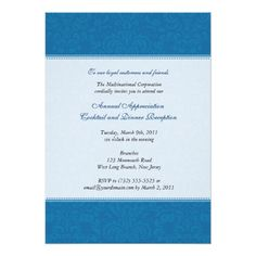 Shop Corporate Damask Cobalt Invitation created by starstreamdesign. Retirement Party Invitations, Bar Mitzvah Invitations, Retirement Parties, Custom Invitations, Text Overlay, Pattern Making, Corporate Events, Damask, Rsvp