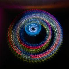 """Photonenrotor #47 - Moving lights in the darkness. Single exposure Light Art Photography, no Photoshop, no tricks. Worked with LED LENSER M3R. Unser nächster Workshop für Einsteiger findet am 21. Mai in Berlin statt.  <a href=""""http://www.lichtkunstfoto.de/workshops"""">www.lichtkunstfoto.de/workshops</a>  <a href=""""https://www.facebook.com/Lichtkunstfoto"""">www.facebook.com/Lichtkunstfoto</a>"""