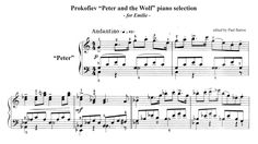 "⬇FREE SHEET MUSIC LINK BELOW⬇ The sheet music featured in this video is an edited selection of movements from Prokofiev's ""Peter and the Wolf"" and recorded w. Music Link, Free Sheet Music, Piano Music, The Selection, Wolf, Youtube, Wolves, Youtubers, Youtube Movies"