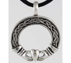 Celtic Claddagh ring pendant N311   FionasFancies - Jewelry on ArtFire