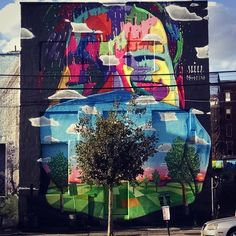 Dasic Fernández ~ Not the best pic of if, but here is my wall done in #Jerseycity for #Jerseycitymuralprogram #dasicfernandez #dasic #nj #newjersey