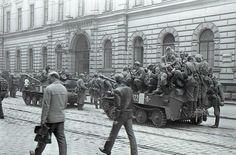 prague, jindřišska ul. Prague Spring, Visit Prague, Vienna, War, Retro, Monochrome, Prague, Pictures, Fotografia