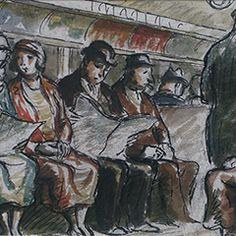 Edward Ardizzone - Underground Travellers