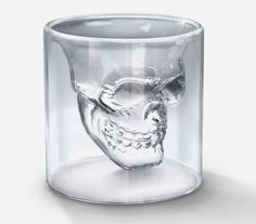 Cool Shot Glasses   Doomed Crystal Skull Shot Glass   Cool Material