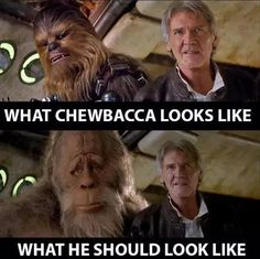 Funny pictures about Looks Like Chewbacca Had Some Work Done On Himself. Oh, and cool pics about Looks Like Chewbacca Had Some Work Done On Himself. Also, Looks Like Chewbacca Had Some Work Done On Himself photos. Funny Comments On Pictures, Funny Couple Pictures, Funny Cartoon Pictures, Comic Pictures, Funny Photos, Cops Humor, Geek Humor, Chewbacca, Funny Chinese
