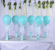 Tulle Balloons Tutu Tiffany Blue Party Balloons with Box Base Centerpieces for Baby Shower Boy Mermaid Party Inch Balloons White Tulle Pack Balloon Decorations Party, Baby Shower Centerpieces, Birthday Party Decorations, Baby Shower Brunch, Shower Party, Baby Shower Parties, Baby Shower Garland, Baby Shower Balloons, Tulle Balloons