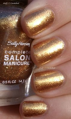 Sally Hansen - Gilded Lily This is so cute go to www.nail-tutorials.com to find more tips and tutorials for nails!