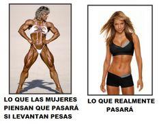 mito - realidad ejercicios de pesas en mujeres