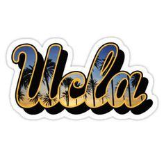 UCLA Logo Palm Trees Sticker