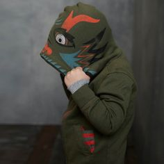 Daring Dragon Hoodie :: In China, a pixu is a dragon-like creature that wards off evil. When your little guy flips up this hood, he'll ward off cold.
