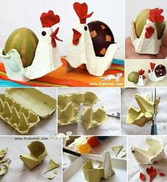 Diy Crafts for Kids Fresh Egg Carton Hens Cute for Easter Crafting. Easter Activities, Easter Crafts For Kids, Toddler Crafts, Diy For Kids, Egg Carton Crafts, Easter Egg Dye, Diy Ostern, Cute Crafts, Creative Crafts