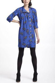 Graphic Begonia Shirt Dress - Anthropologie.com