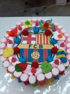 Una dulce tarta para los amantes del fútbol de Duldi Collblanc.