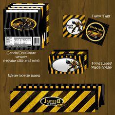 Bumblebee Transformers Printable Birthday by SplashboxPrintables, $27.00