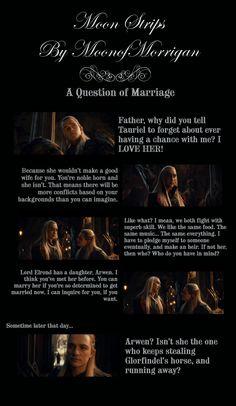 """""""A Question of Marriage"""" #thranduil #legolas #thehobbit #moonstrips"""