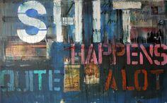 "Saatchi Online Artist Niki Hare; Painting, ""it happens"" #art"