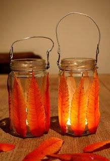 Autumn Tea light holders
