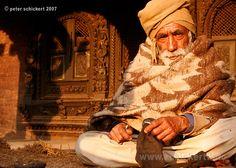 Old man in Bhaktapur