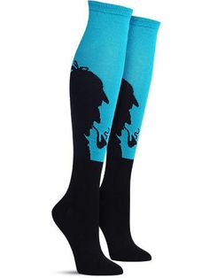 sherlock awesome knee high socks, in lagoon