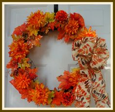 fall wreath berry wreath grapevine wreath leaves and flowers halloween door decoration thanksgiving holiday decor