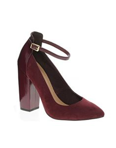 Image 1 ofASOS PERSUADE Pointed High Heels #oxblood