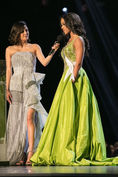 Hailey Colborn, Miss Kansas TEEN USA answers her final question as a top 5 finalist on stage with host Erin Lim during The MISS TEEN USA® Competition at George's Pond at Hirsch Coliseum on Friday, May Miss Kansas, Kansas Usa, Kansas City, Miss Teen Usa, Miss Usa, Strapless Dress Formal, Formal Dresses, Pageant Dresses, Style Inspiration