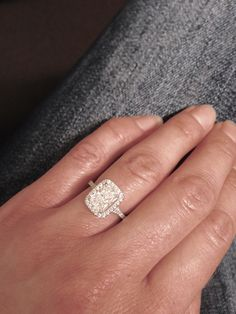 Elongated Radiant Cut stone. Halo. Cushion Setting. Engagement Ring. Perfection. ❤️