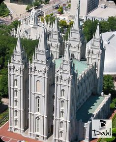 """Salt Lake City LDS Temple View from The Church Office Building Overlook.  - MormonFavorites.com  """"I cannot believe how many LDS resources I found... It's about time someone thought of this!""""   - MormonFavorites.com"""