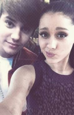 :OOOO IM IN LOVE WITH JUSTIN BIEBER AND ARIANA GRANDE IS PERF