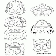 Colorear Máscaras de Patrulla canina