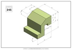 Orthographic Drawing, Cad Drawing, Drawing Practice, Mechanical Engineering, Autocad, My Drawings, Geometry, Exercises, 3d