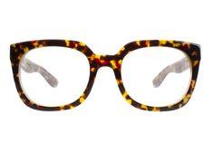 RITZY Eyeglasses: Oversized Square Frame in Golden Bark Tortoise - Vint & York Prescription Sunglasses, Prescription Lenses, Eyeglasses Frames For Women, Fashion Eye Glasses, Optical Frames, High Gloss, Designer Frames, York, Tortoise