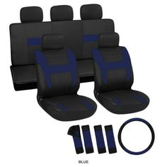 17-Piece Set: OxGord Race Car Vehicle Seat Covers - Assorted Colors at 60% Savings off Retail!