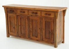 Old Sideboard 4 Door 4 Drawer