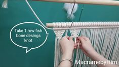 DIY Macrame Curtain -Super easy, fast /Hướng dẫn t Diy Macrame Wall Hanging, Macrame Curtain, Curtain Tutorial, Tutorial Diy, Macrame Necklace, Macrame Jewelry, Macrame Youtube, Image Blog, Micro Macramé