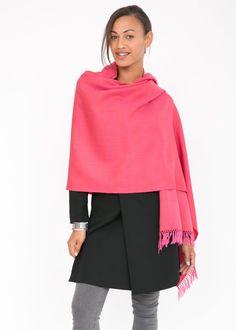 c4dfc73b0 Kasa Merino Handwoven Pashmina & Blanket Scarf 100 X 200cm Pink ...
