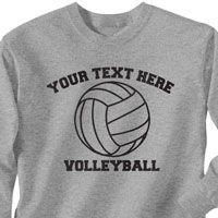 Custom Volleyballs Tshirt Long Sleeve