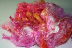 Fiber Mohair Locks Hand Dyed Kettle Dyed 2 ounces by expertlydyed, $10.00