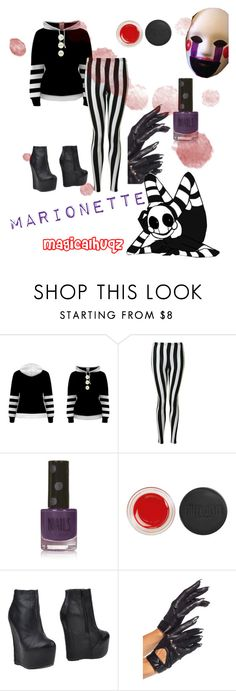 """""""Five Nights At Freddy's - Marionette"""" by magicalhuqz ❤ liked on Polyvore featuring moda, Freddy, Glamorous, Topshop e Jeffrey Campbell"""