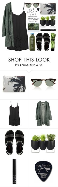 """Moon sighter."" by peachy-bliss ❤ liked on Polyvore featuring Dezso by Sara Beltrán, Ray-Ban, Juicy Couture, Julie Fagerholt Heartmade, Gardenia, Authentics, NARS Cosmetics and Floyd"
