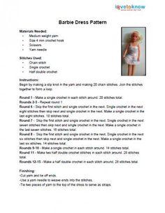 Free Crochet Barbie Clothing Patterns