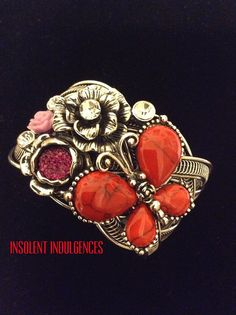 Stunning Stainless Steel Butterfly Jeweled by InsolentIndulgences, $55.00