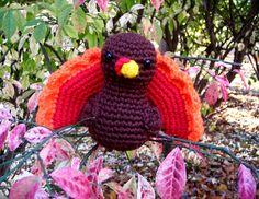 Free turkey crochet pattern.